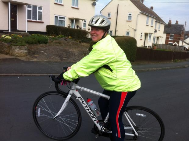Mum cycling from London to Paris
