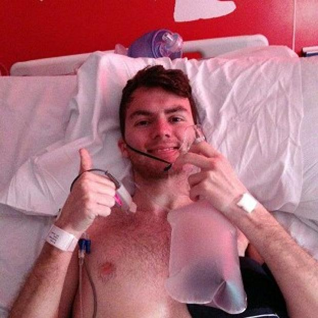 Halstead Gazette: Stephen Sutton, 19, says he feels some anger over his late diagnosis
