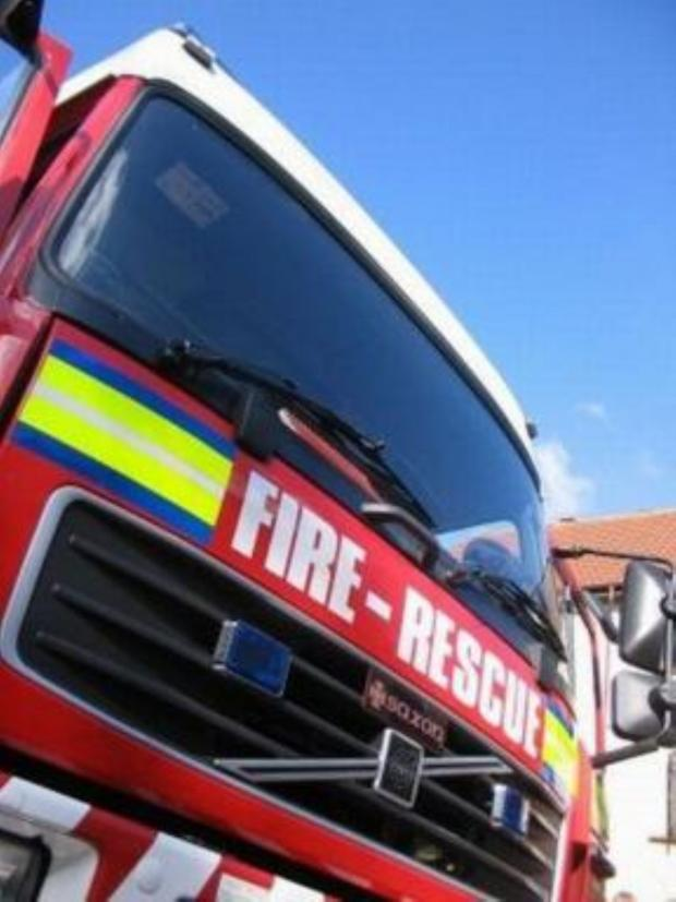 Halstead Gazette: Fire fighters tackle blaze after lightning strik