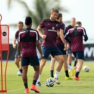 Halstead Gazette: England training session ahead of the start of the World Cup