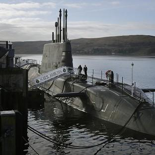 A survey found 41 per cent of Scots would be happy with Britain's nuclear submarines remaining on the Clyde even if the country becomes independent