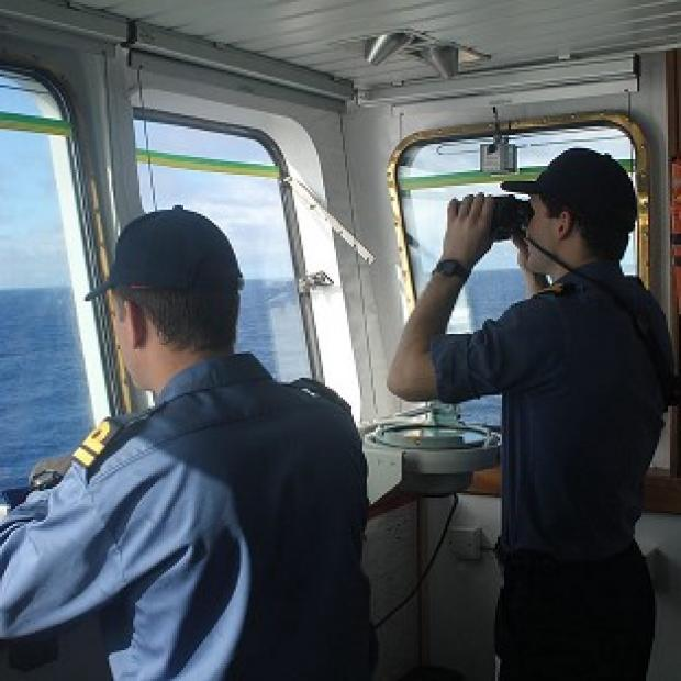 Halstead Gazette: The crew on board survey ship HMS Echo helps the underwater search for missing Malaysia Airlines flight MH370 (MoD/PA)