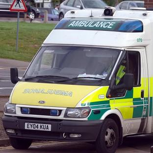 File shot of an ambulance.