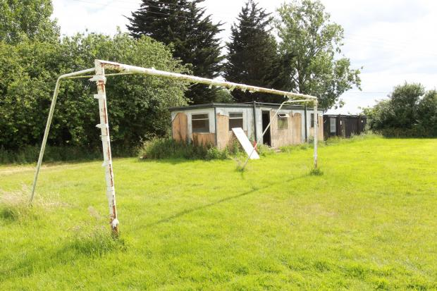 The football ground at Burches Meadow has not been used for years
