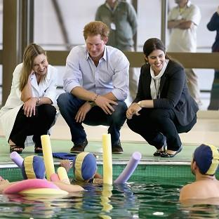 Prince Harry meets patients in the Rede Sarah Hospital for Nerological Reha