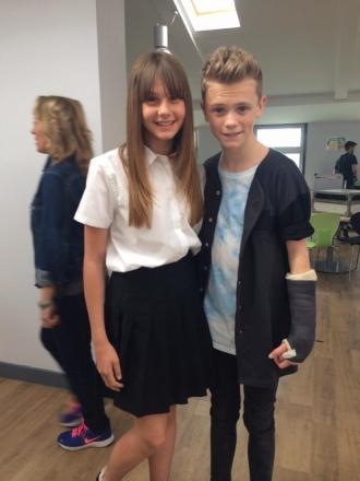 Cerys Wrigley-Moss with Charlie Lenehan from Bars and Melody