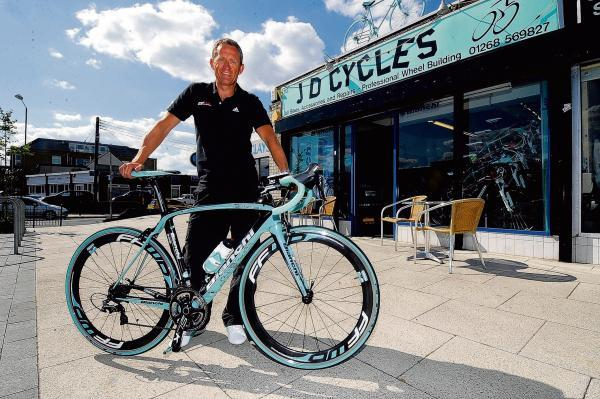 Halstead Gazette: Jason White cycled the the local part of the stage