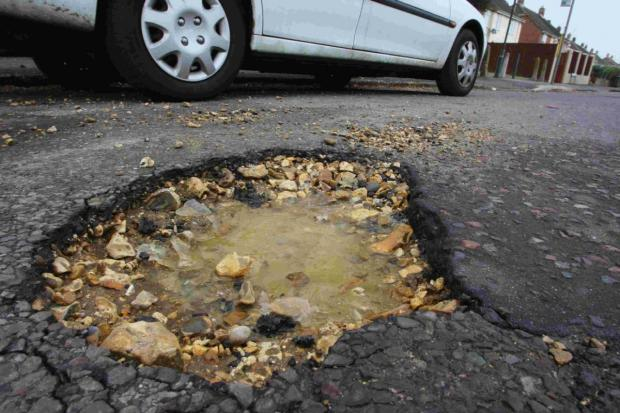 Number of potholes drops on main roads, but rises on local streets