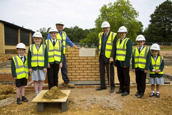 Foundation stone to mark commitment of man to his school