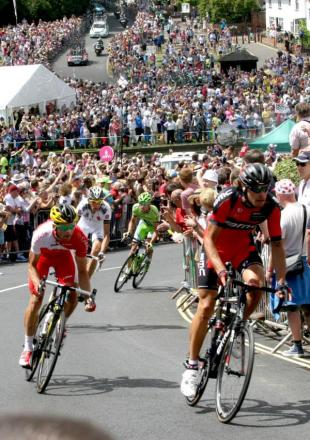 Villagers pack out Finchingfield to see the Tour de France