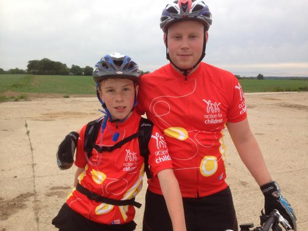 David Hook, left, with uncle Matt will ride 70 miles for Action for Children