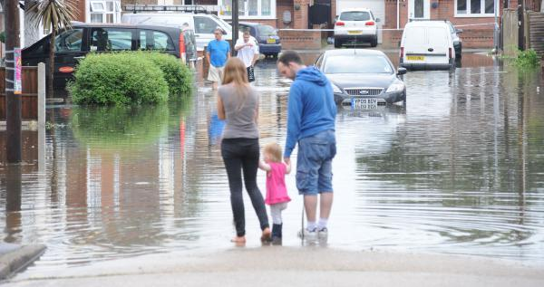 Canvey flooded last month