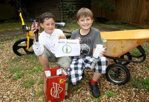 Entrepreneurial youngsters raising money and helping the environment