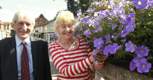Dave Gronland and Joan Gibson along with other members of the team want to rebrand Halstead as a floral town