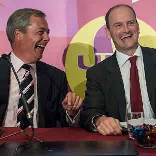 Halstead Gazette: UKIP leader Nigel Farage (left) with Douglas Carswell who has defected from the Conservatives