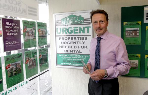 Steve Maddison, owner of Scott Maddison estate agents in Halstead's High Street