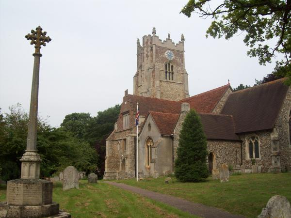 St Andrew's churchyard in Great Yeldham formal