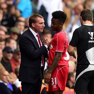 Raheem Sterling, centre, was at the heart of everything Liver