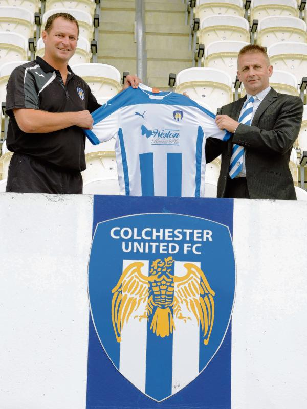 New beginning - Tony Humes (left) has been appointed as Colchester United's new manager by chairman Robbie Cowling. Picture: STEVE BRADING (CO98713-14)