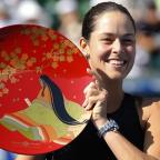 Halstead Gazette: Ana Ivanovic secured her fourth WTA title of the year in Tokyo on Sunday (AP)