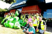 As part of the campaign, McDonalds branches including this one in Colchester have been helping to collect litter
