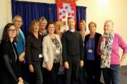 Earls Colne WI proud to unveil banner to commemorate wars