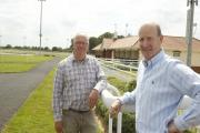 Racecourse clerk Andy Waitt and operations director Simon Bailey