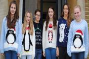 Pupils at Hedingham School wore Christmas jumpers instead of their school uniform on Friday