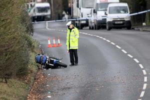 Motorcyclist dies and schoolgirl left in critical condition following serious crash - road now open