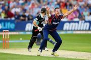 Shaun Tait appeals for the wicket of Surrey Sharks' Gary Wilson during his spell with Essex Eagles in 2013. Picture: GAVIN ELLIS/TSG PHOTO