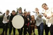Children enjoyed a trip back to Medieval England