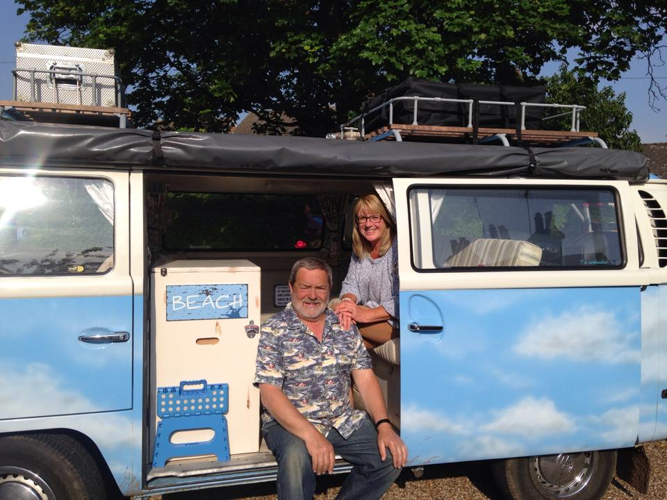 Couple setting off on journey of a lifetime in their VW camper van