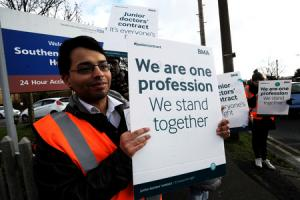 Junior doctors from Southend Hospital join second strike over pay and conditions