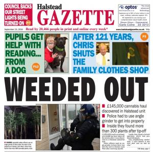 "Halstead Gazette: ""Weeded out"""