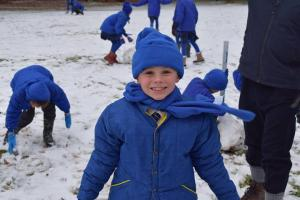 Halstead Gazette: In Pictures: Snow inspires fun-filled outside learning