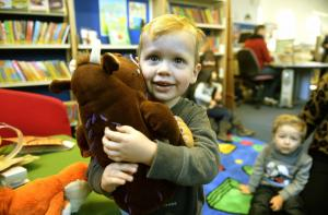 Halstead Gazette: In Pictures: Children flock to library for Gruffalo trail
