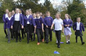 Halstead Gazette: In Pictures: Pupils at Earls Colne take part in a daily mile