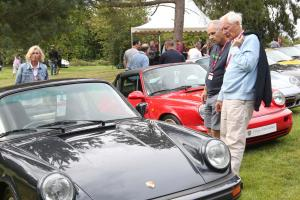 Porsche cars gather at Hedingham Castle