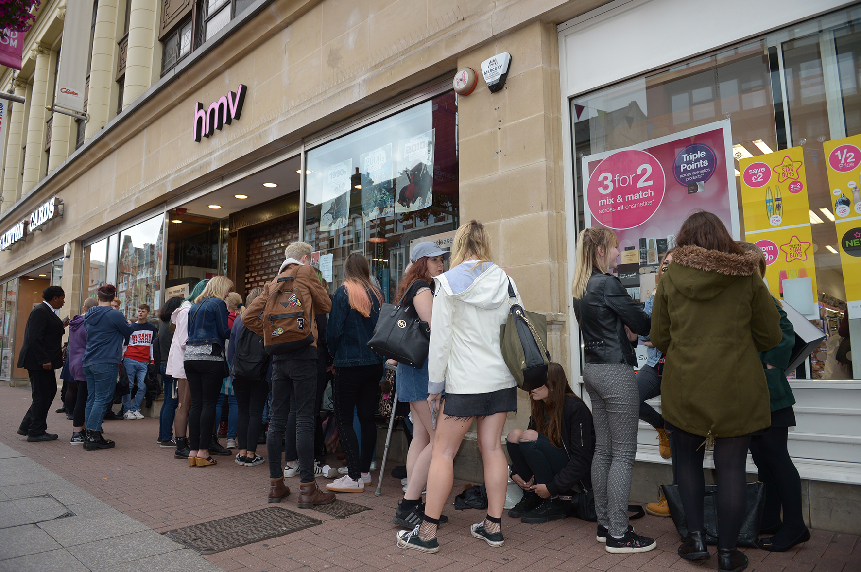 Nothing but Thieves album signing at HMV, Southend High Street....