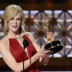 Halstead Gazette: Nicole Kidman accepts the award for outstanding lead actress in a limited series or a movie for Big Little Lies (Chris Pizzello/Invision/AP)