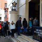 Halstead Gazette: People queue outside Theatre Royal Drury Lane in London as auditions opened for the musical 42nd Street (John Stillwell/PA)