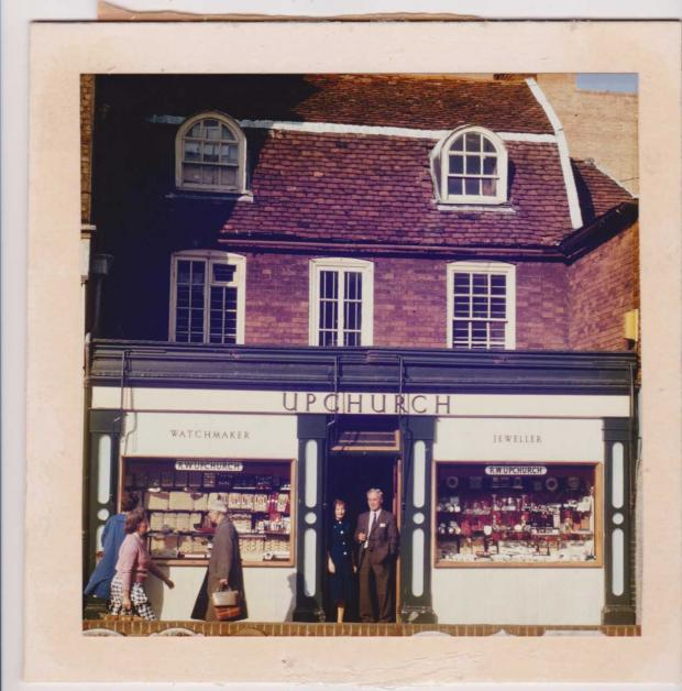 Halstead Gazette: Retro - Dorothy Putman, known as Mrs P, and Reginald Upchurch the shop in 1959
