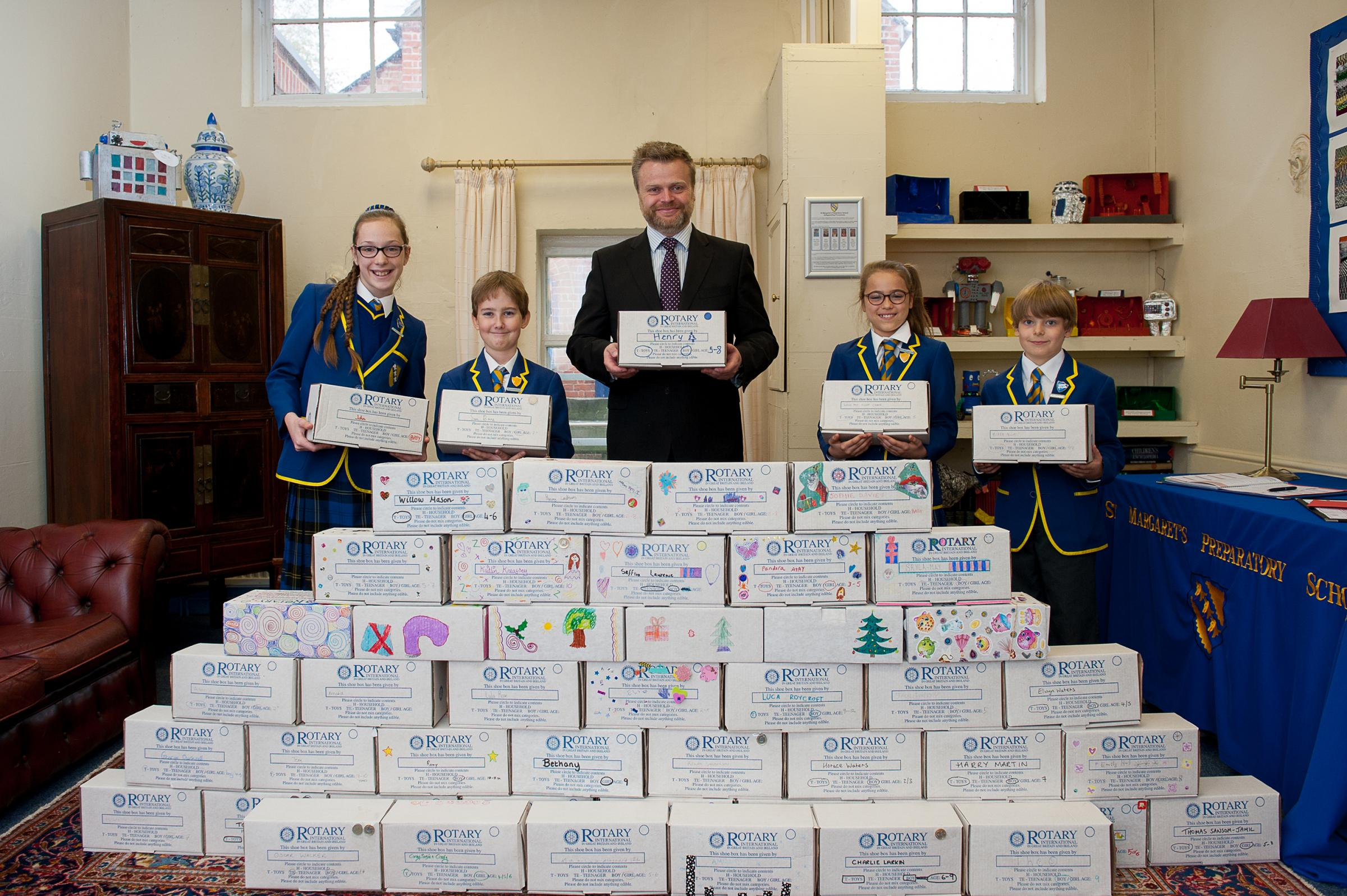 St Margaret's Preparatory School helps with shoebox appeal
