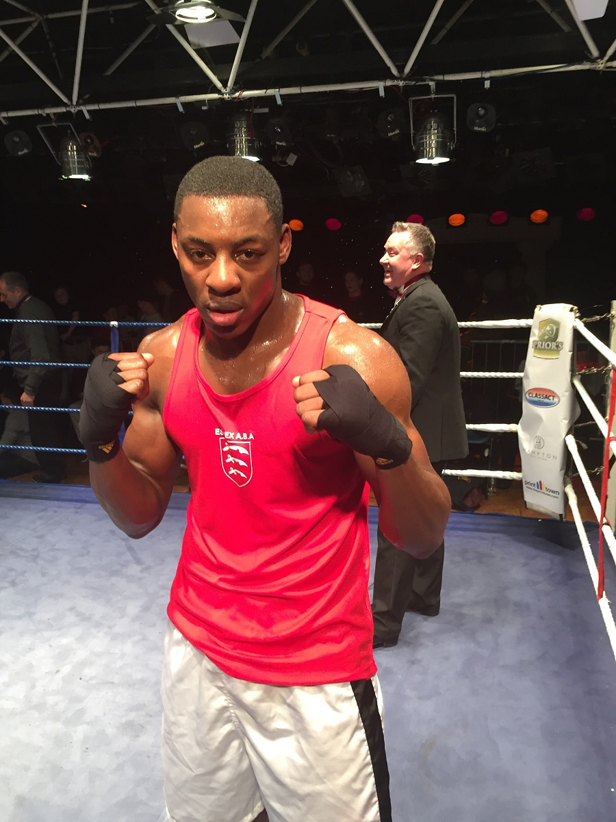 Ready for action - Essex University's Dan Azeez is set to make his debut as a professional boxer tomorrow night at the Brentwood Centre