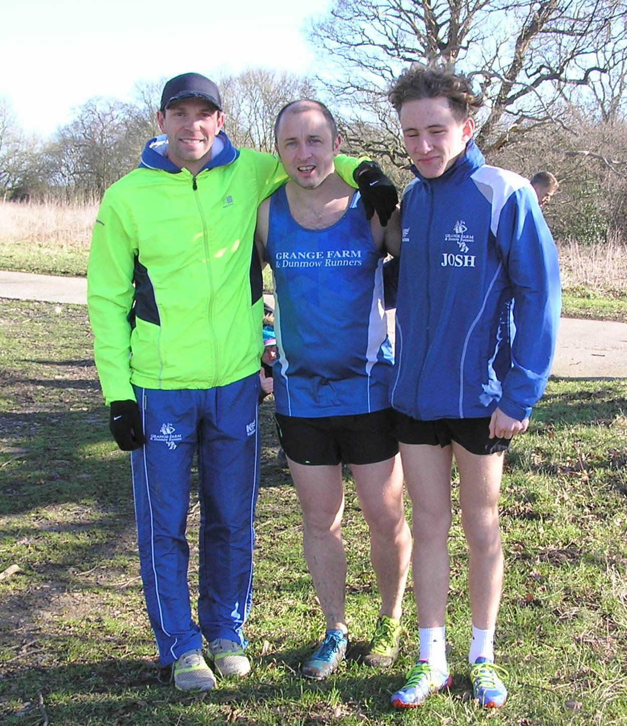 Alistair Brown, Lee Pickering and Josh Sowman were part of the Grange Farm and Dunmow Runners men's team that finished second in the Mid-Essex Cross-Country league round at Highwood.