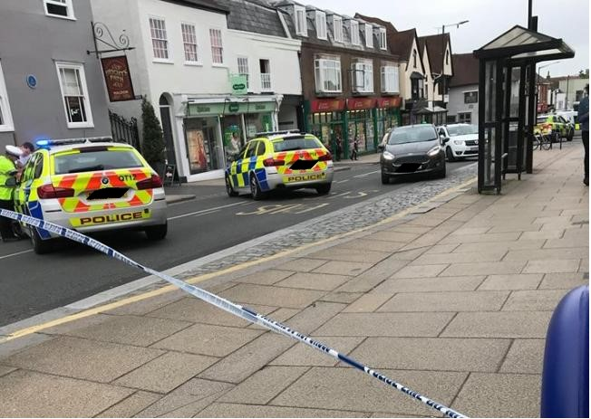 Police have cordoned off the high street in Maldon