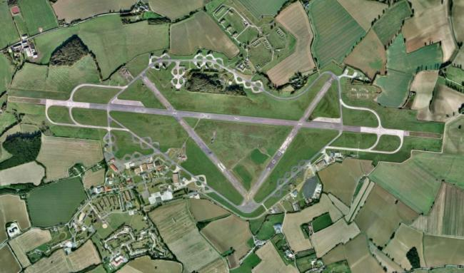 FLIGHT: Wethersfield Airfield from above.