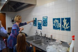 Creative Net: Cyanotypes with Resorting to the Coast