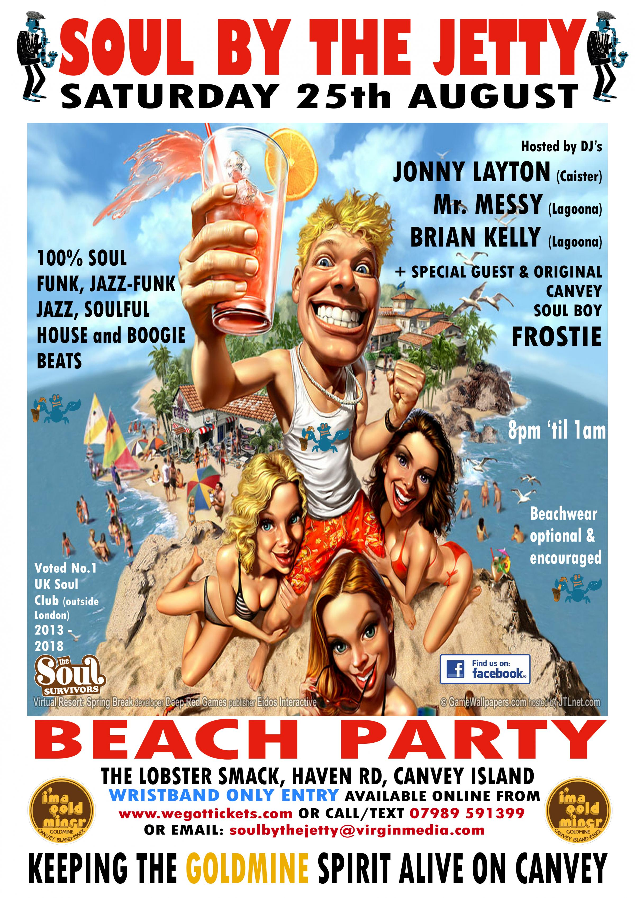 SOUL BY THE JETTY - August BEACH PARTY