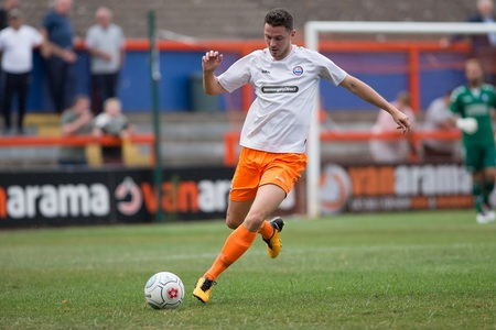 Luke Allen scored Braintree's goal at Salisbury
